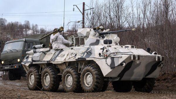 Transporte blindado BTR-82A, imagen referencial - Sputnik Mundo