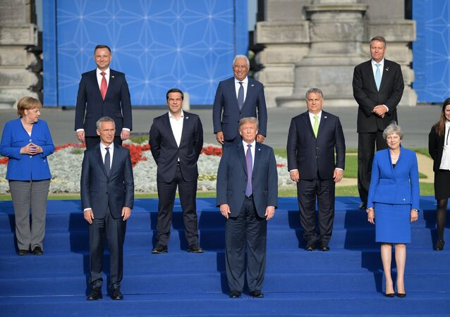Los líderes de los países miembros de la OTAN durante la cumbre de la Alianza en Bruselas