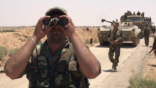 Los militares de Siria en la provincia de Deraa - Sputnik Mundo
