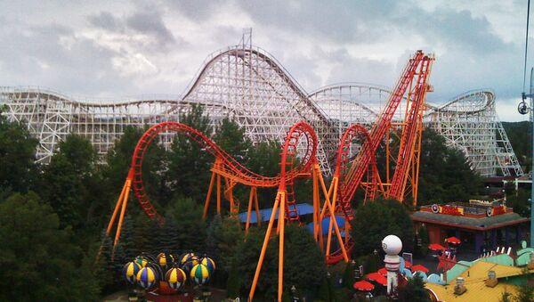 Parque de atracciones Six Flags, en Ciudad de México. - Sputnik Mundo