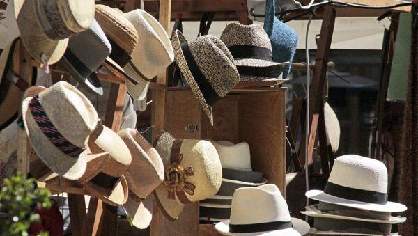 Sombreros de paja toquilla en Ecuador - Sputnik Mundo