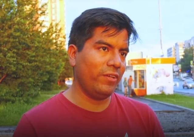 Giovanni Falcón, hincha peruano