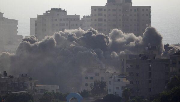 Consecuencias del bombardeo israelí en Gaza - Sputnik Mundo
