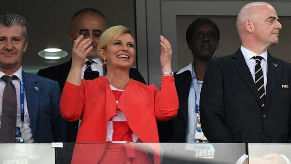 La presidenta de Croacia Kolinda Grabar-Kitarovic - Sputnik Mundo