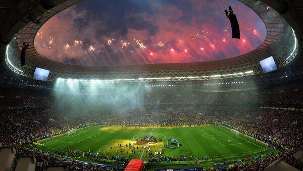 Fuegos artificiales después del partido final el Mundial - Sputnik Mundo