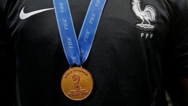 Medalla de ganador del Mundial de Rusia - Sputnik Mundo