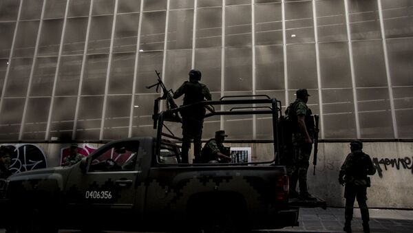 Operativo militar durante la visita de Mike Pompeo y de la delegación de EEUU a  México - Sputnik Mundo