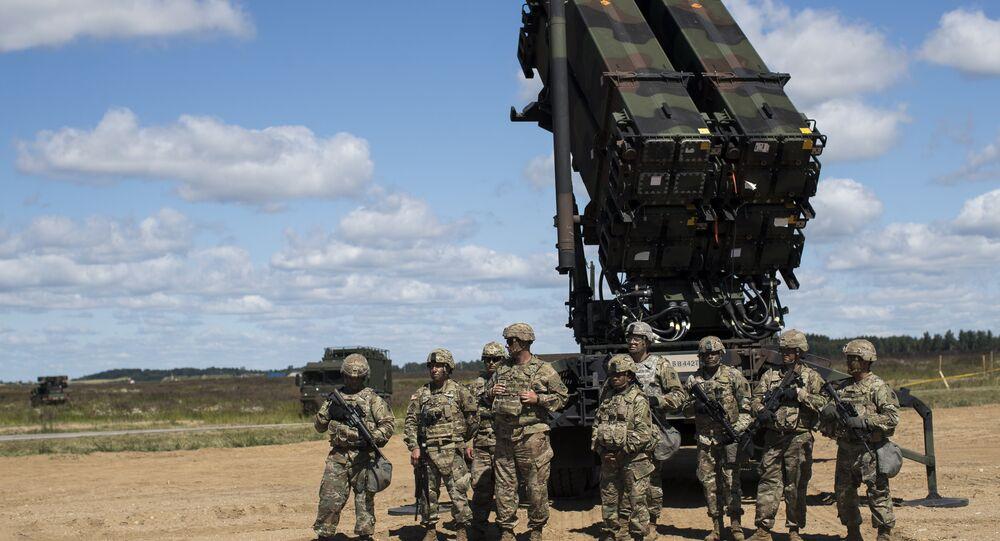Un sistema de defensa antimisiles estadounidense Patriot