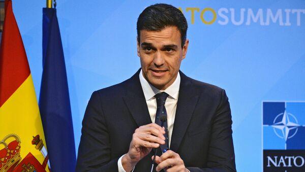 El presidente del Gobierno de España, Pedro Sánchez - Sputnik Mundo