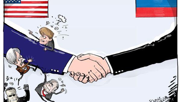 Recaída de la humillación en EEUU tras el encuentro de Putin y Trump - Sputnik Mundo