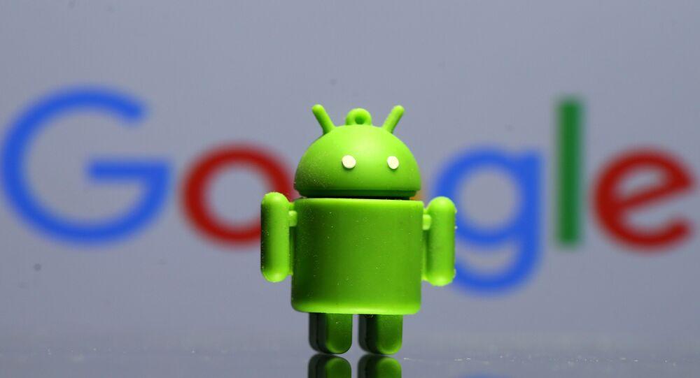 Un modelo 3D de Android