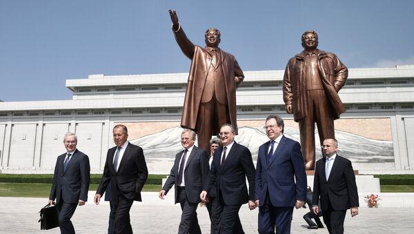 Delegación rusa en Pyongyamg, Corea del Norte (archivo) - Sputnik Mundo