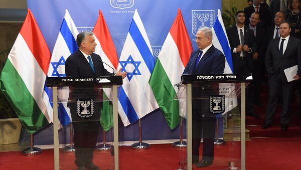 Primer ministro de Hungría, Viktor Orbán y primer ministro de Israel, Benjamín Netanyahu - Sputnik Mundo
