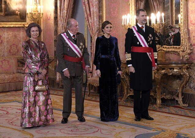 La reina Sofía, el rey emérito Juan Carlos I, la reina Letizia y el rey Felipe VI
