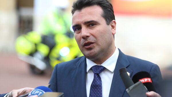 Zoran Zaev, primer ministro de Macedonia - Sputnik Mundo