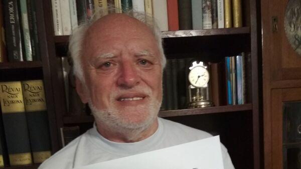 Arató András, conocido modelo anciano de origen húngaro - Sputnik Mundo