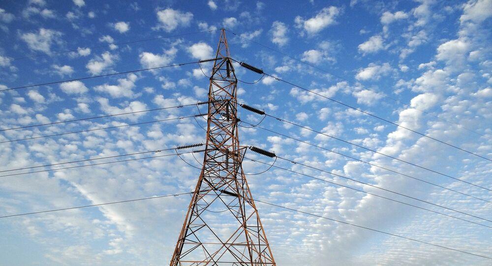 Una torre de transmisión eléctrica