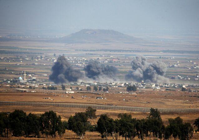 Situación en los Altos del Golán, cerca de la frontera entre Siria e Israel