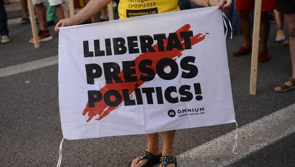 Los catalanes reclaman liberar a presos políticos - Sputnik Mundo