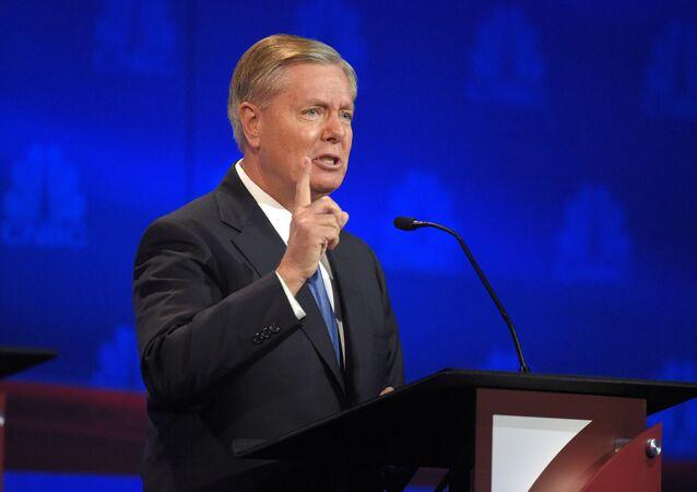 El senador republicano estadounidense Lindsey Graham