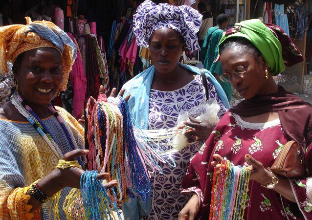 Un mercado en la capital senegalesa de Dakar