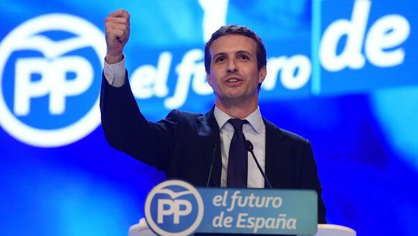 Pablo Casado, nuevo presidente del PP - Sputnik Mundo