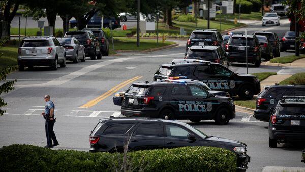 Lugar del tiroteo en Annapolis, Maryland - Sputnik Mundo