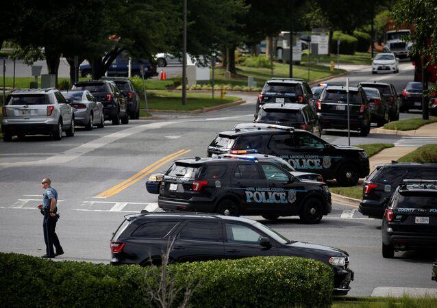 Lugar del tiroteo en Annapolis, Maryland