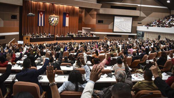 Sesión de la Asamblea Nacional de Cuba en La Habana - Sputnik Mundo