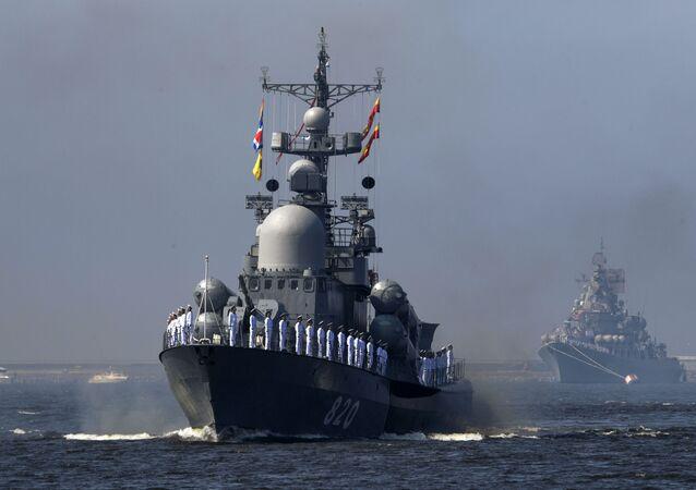 Ensayo del desfile por el Día de la Armada de Rusia, en fotos