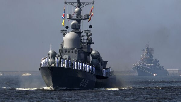 Ensayo del desfile por el Día de la Armada de Rusia, en fotos - Sputnik Mundo
