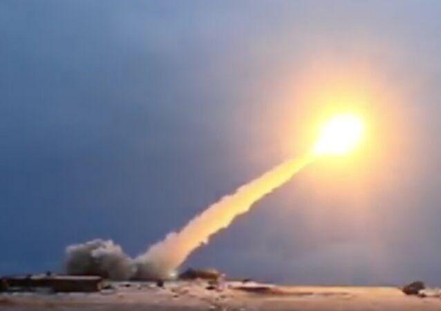 Un misil ruso, foto de archivo