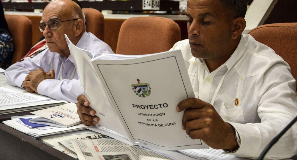Nuevo proyecto de Constitución de Cuba (archivo)