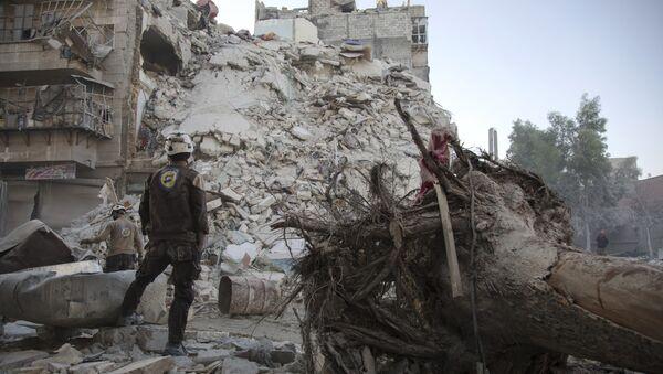 Los Cascos Blancos en Siria (archivo) - Sputnik Mundo
