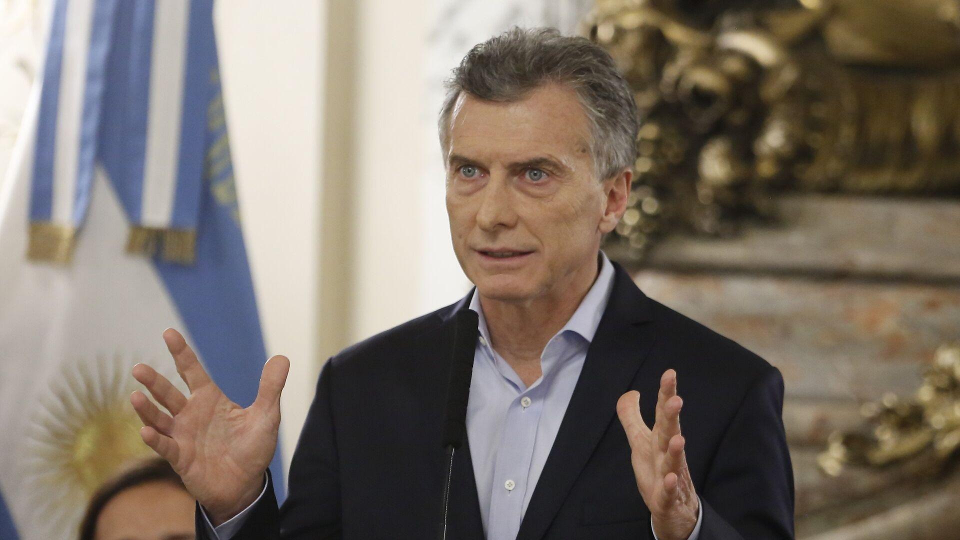 Mauricio Macri, presidente de Argentina - Sputnik Mundo, 1920, 22.07.2021