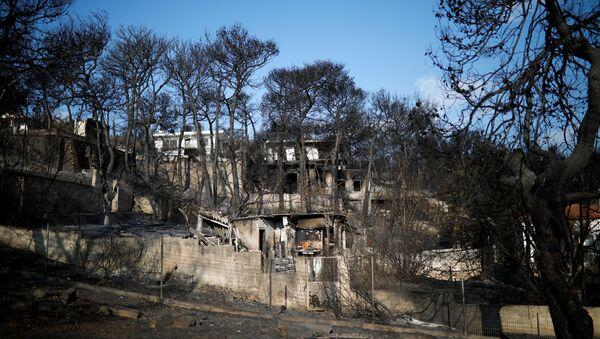 Consecuencias de incendios en Grecia - Sputnik Mundo