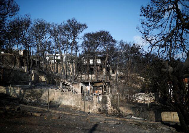 Consecuencias de incendios en Grecia