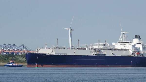 El buque Gaslog Hong Kong (archivo) - Sputnik Mundo