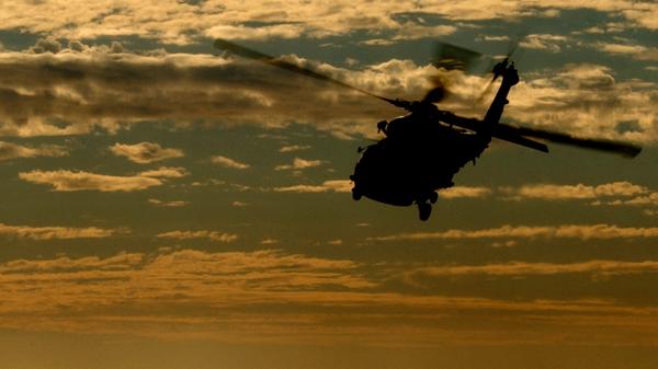 Un helicóptero, imagen referencial - Sputnik Mundo