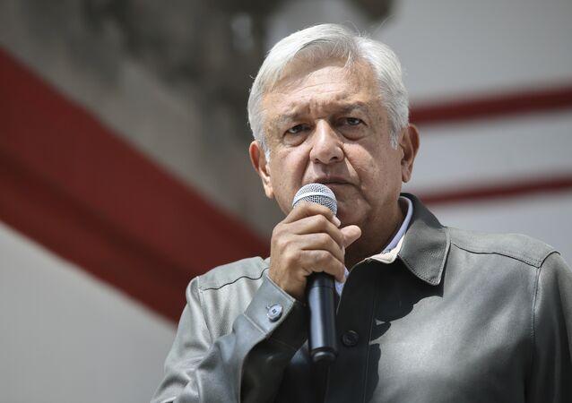 Andrés Manuel López Obrador, político mexicano, presenta su Plan de Austeridad Republicana, México, 14 de julio de 2018