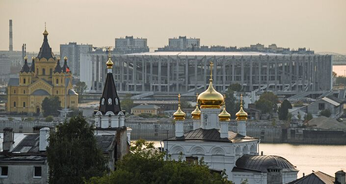 El estadio de Nizhni Nóvgorod