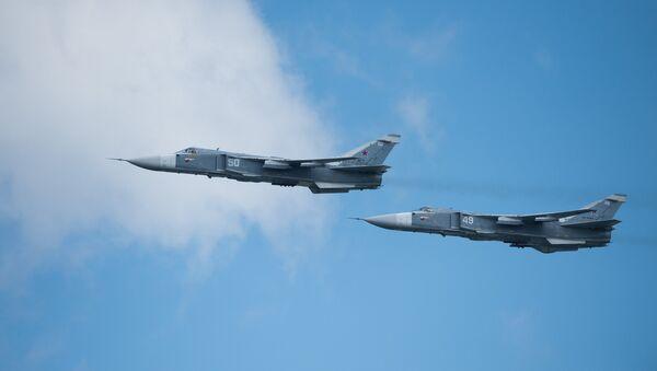Aviones rusos Su-24M - Sputnik Mundo