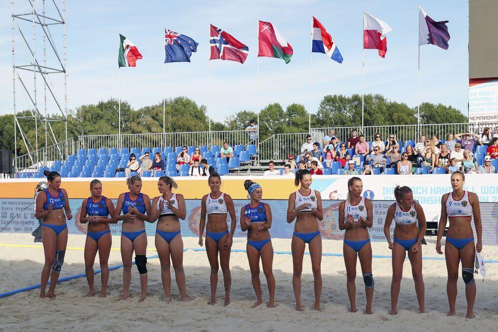 La selección de Rusia de balonmano playa