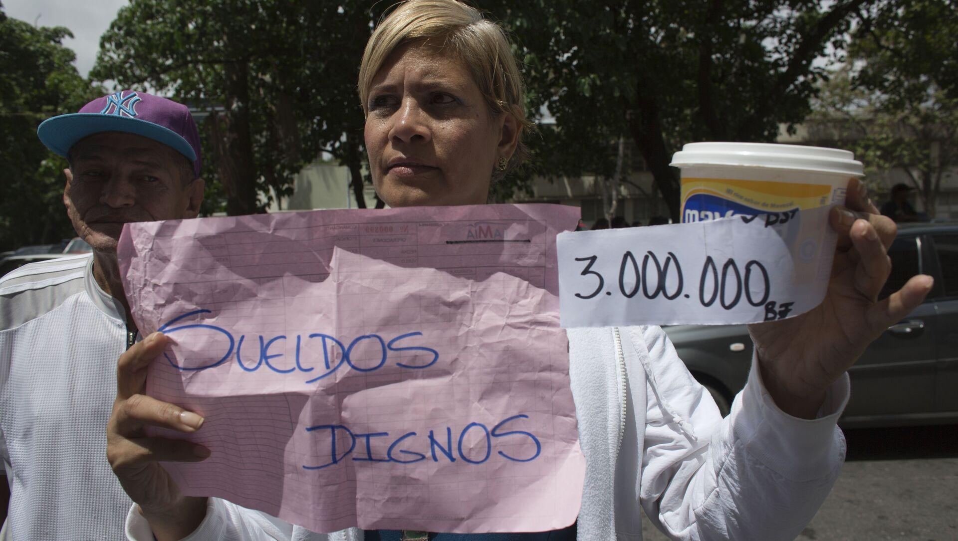 Manifestación de trabajadores de salud en Venezuela - Sputnik Mundo, 1920, 10.02.2021