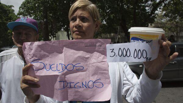 Manifestación de trabajadores de salud en Venezuela - Sputnik Mundo
