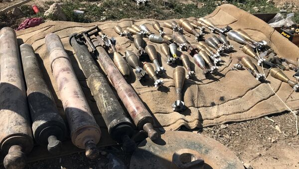 Almacen de municiones en Siria (archivo) - Sputnik Mundo