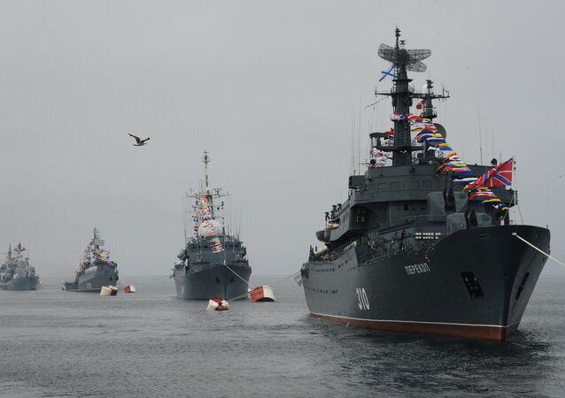 Los buques de la Flota del Báltico de Rusia