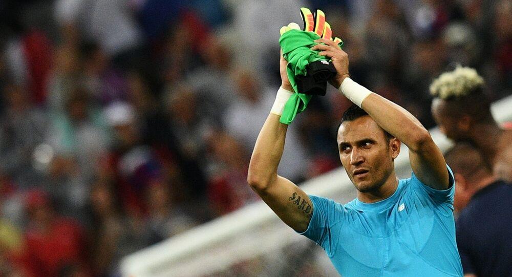 Keylor Navas, portero del Real Madrid y de la selección de Costa Rica