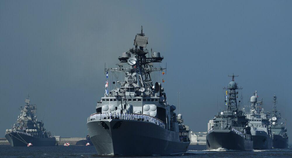 Desfile con motivo del Día de la Armada de Rusia