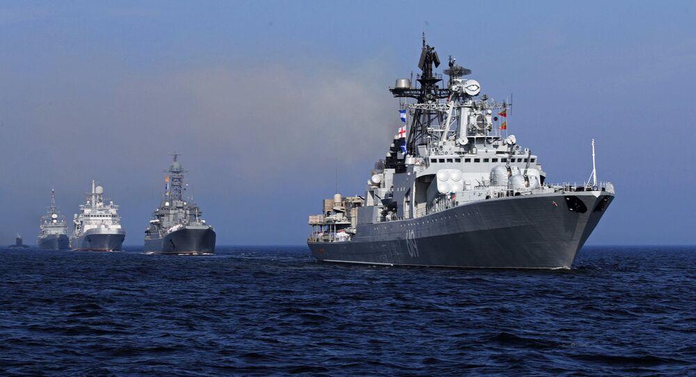 Desfile naval en Rusia